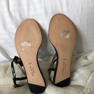 kate spade Shoes - Kate Spade NWOT Tuxedo/pearl Ivanka sandals